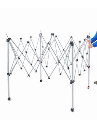 付属品:ペグ、ロープ、収納ケース※ハンマーは付属しておりません 重量:約13kg  サイズ: (シェード)約270×270cm (フレーム)約220×220×250cm (収納時)約φ18×118cm  材質:フライ/150Dポリエステルオックスフォード(UVPRO、PU防水、シームシール) フレーム/スチ