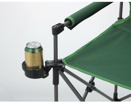 カップホルダー付スリムチェア緑
