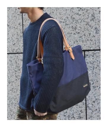 [SHIPS JET BLUE]キャンバストートバッグ