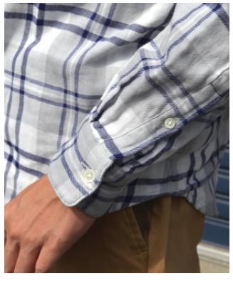 シップス ダブルガーゼ リラックスチェックシャツ