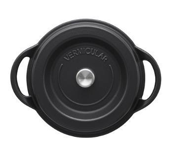バーミキュラ オーブンポットラウンド22cm【マットブラック】SUMI(炭)