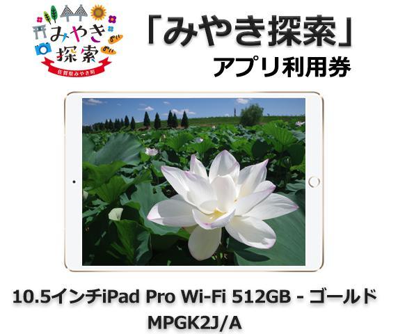 みやき探索アプリ利用券 (10.5インチiPad Pro Wi-Fi 512GB – ゴールド MPGK2J/A 付き)