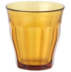 カフェの定番、デュラレックス・ピカルディーのグラス(250ml)6個 オシャレなブラウンカラー