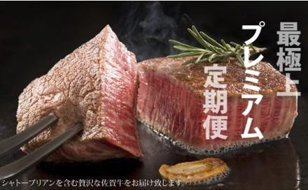 第9位!No Meat, No Life(佐賀牛シャトーブリアン含む)プレミア定期便 100万円コース