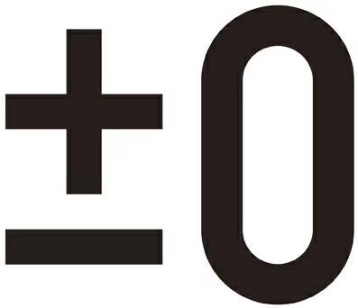 プラスマイナスゼロ ロゴ