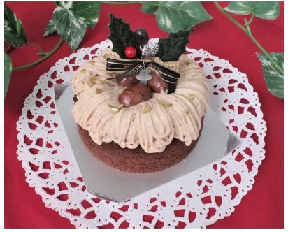 【ロハスクリスマスケーキ】フランス産マロンクリームの特製モンブラン