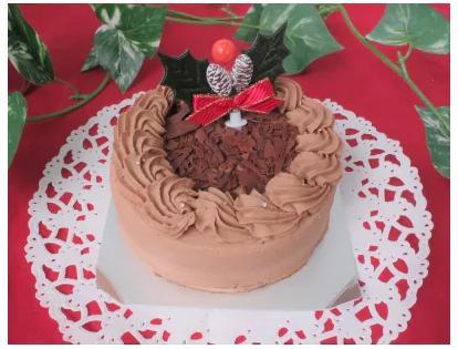 【ロハスクリスマスケーキ】優しい甘さのミルクチョコレートクリームケーキ