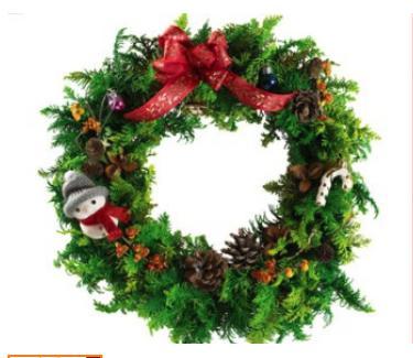 クリスマスリース typeA ※クレジット決済限定