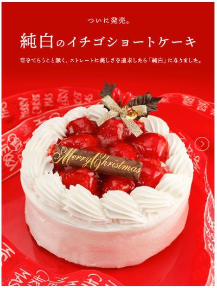 【12/22配送】道の駅さかい特選 純白のいちごクリスマスショートケーキ<5号>