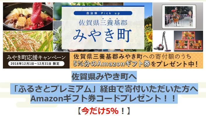 2018年・年末限定!ふるさと納税×Amazonポイント5%還元付きのお得な返礼品情報!