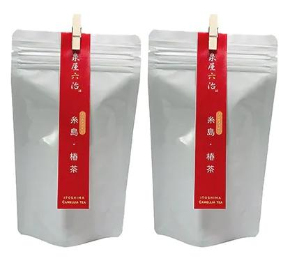 糸島・椿茶 2袋 糸島産椿の葉100%使用【泉屋六治】(福岡県糸島市)