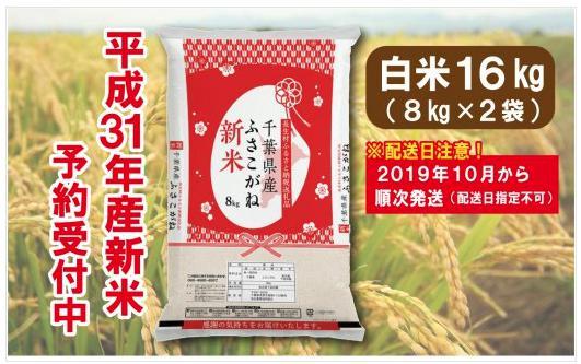 長生産ふさこがね(白米16kg)平成31年産新米 ※2019年10月から配送
